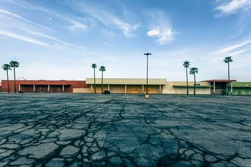 A vacant shopping center in El Centro, California.